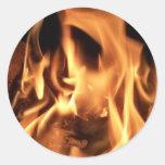 Fuego Pegatina Redonda