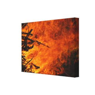 Fuego que rabia impresiones de lienzo