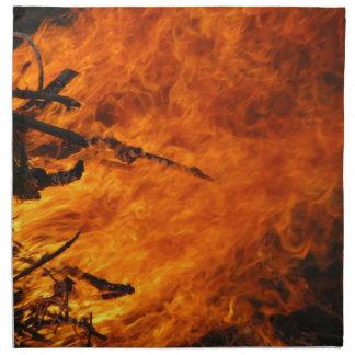 Fuego que rabia servilleta de papel