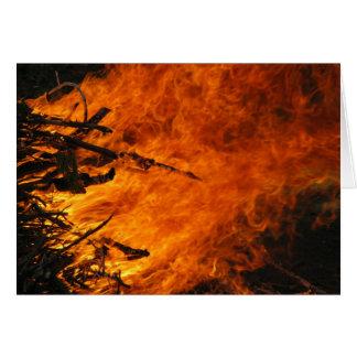 Fuego que rabia tarjeta