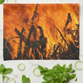 Fuego que rabia toallas de cocina