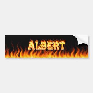 Fuego real de Albert y diseño de la pegatina para  Pegatina Para Auto