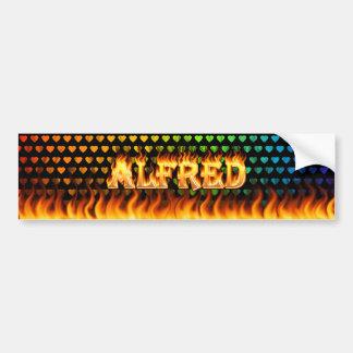 Fuego real de Alfred y diseño de la pegatina para  Pegatina Para Auto