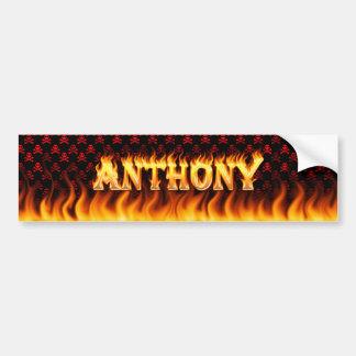Fuego real de Anthony y diseño de la pegatina para Pegatina Para Auto