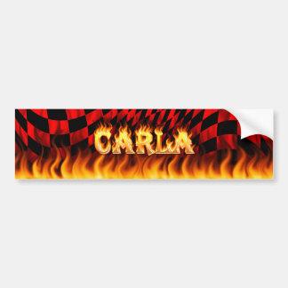 Fuego real de Carla y diseño de la pegatina para e Pegatina Para Auto