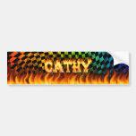 Fuego real de Cathy y diseño de la pegatina para e Etiqueta De Parachoque