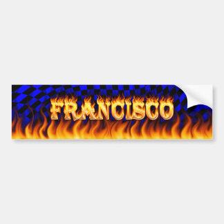 Fuego real de Francisco y desi de la pegatina para Pegatina Para Auto