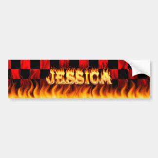 Fuego real de Jessica y diseño de la pegatina para Pegatina Para Auto