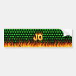 Fuego real de Jo y diseño de la pegatina para el p Pegatina De Parachoque