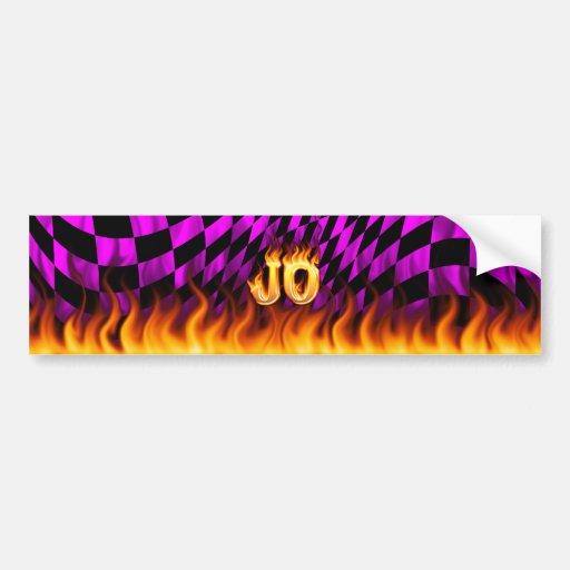 Fuego real de Jo y diseño de la pegatina para el p Etiqueta De Parachoque