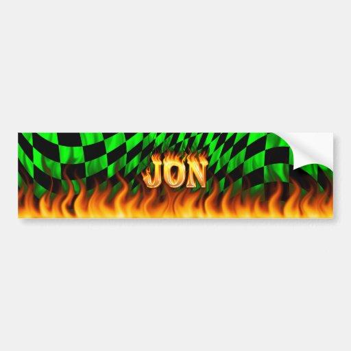 Fuego real de Jon y diseño de la pegatina para el  Pegatina De Parachoque