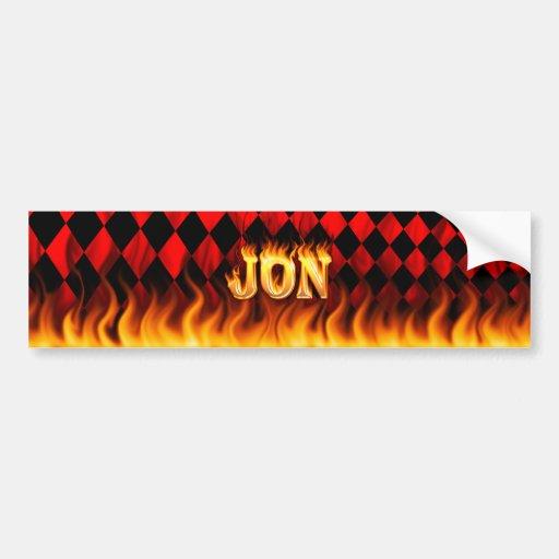 Fuego real de Jon y diseño de la pegatina para el  Pegatina Para Auto