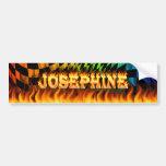 Fuego real de Josephine y desi de la pegatina para Etiqueta De Parachoque
