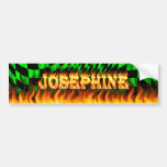 Fuego real de Josephine y desi de la pegatina para Pegatina De Parachoque