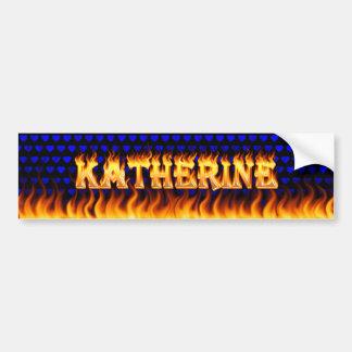 Fuego real de Katherine y desi de la pegatina para Pegatina Para Auto