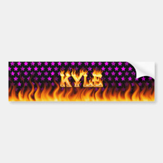 Fuego real de Kyle y diseño de la pegatina para el Pegatina Para Auto