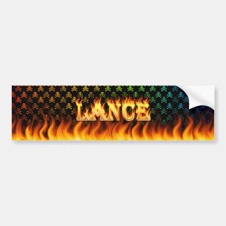Fuego real de la lanza y diseño de la pegatina par pegatina para auto