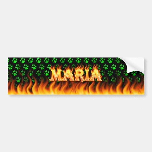 Fuego real de Maria y diseño de la pegatina para e Pegatina Para Auto