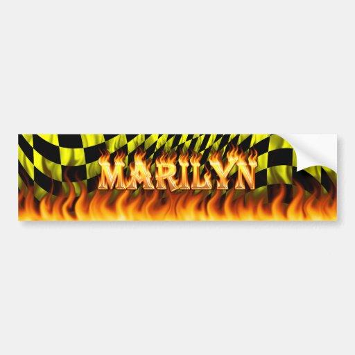 Fuego real de Marilyn y diseño de la pegatina para Pegatina Para Auto