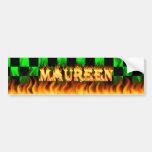 Fuego real de Maureen y diseño de la pegatina para Pegatina De Parachoque