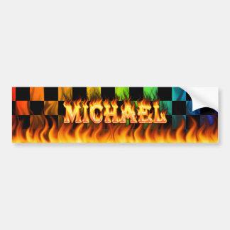 Fuego real de Michael y diseño de la pegatina para Pegatina Para Auto