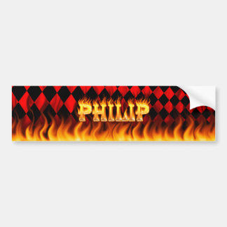 Fuego real de Philip y diseño de la pegatina para  Pegatina De Parachoque