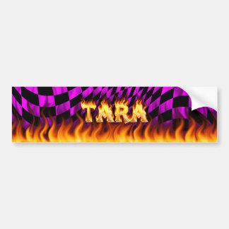 Fuego real de Tara y diseño de la pegatina para el Etiqueta De Parachoque
