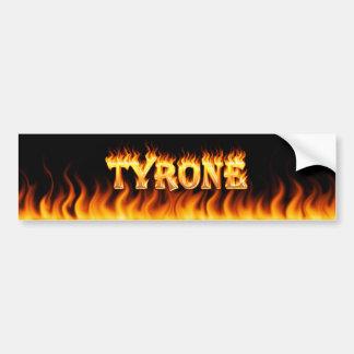 Fuego real de Tyrone y diseño de la pegatina para  Etiqueta De Parachoque