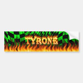 Fuego real de Tyrone y diseño de la pegatina para  Pegatina De Parachoque