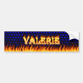 Fuego real de Valerie y diseño de la pegatina para Pegatina Para Auto