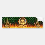 Fuego real del cráneo de Ashley y etiqueta engomad Etiqueta De Parachoque