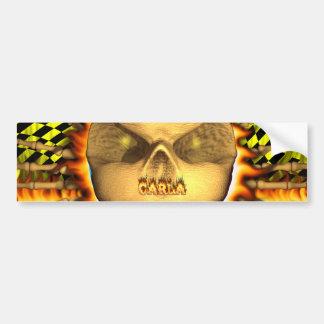 Fuego real del cráneo de Carla y etiqueta engomada Pegatina Para Auto