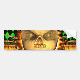 Fuego real del cráneo de Debra y etiqueta engomada Pegatina Para Auto