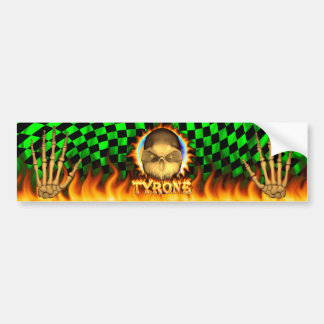 Fuego real del cráneo de Tyrone y pegatina para el Pegatina De Parachoque