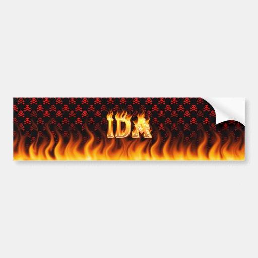 Fuego real del Ida y diseño de la pegatina para el Pegatina Para Auto