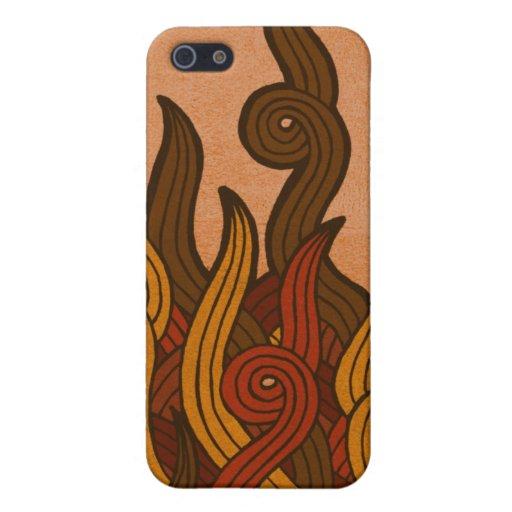 Fuego rojo iPhone 5 funda