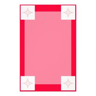 Fuego (rojo) personalized stationery