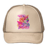 Fuego rosado gorras