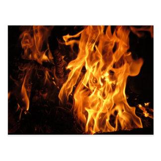 fuego tarjetas postales