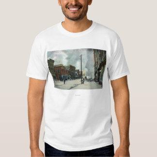 Fuego tercera Street que sube, terremoto 1906 Camisas