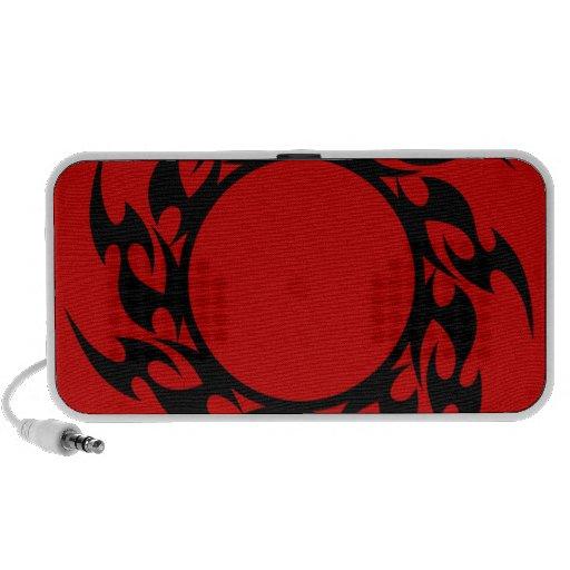 FUEGO TRIBAL NEGRO LO AGUDO del CÍRCULO round_flam iPod Altavoces