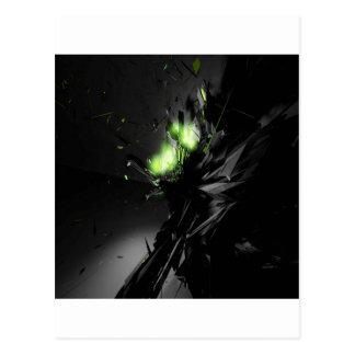 Fuego verde explosivo fresco abstracto postal