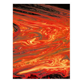 Fuego volcánico líquido (1) postal