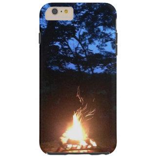 Fuego Wispy en la puesta del sol Funda Para iPhone 6 Plus Tough