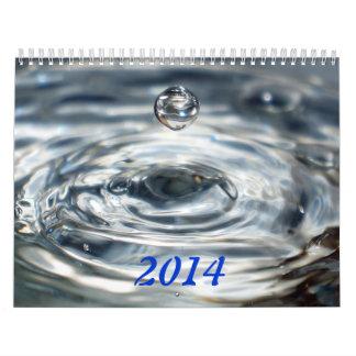 FUEGO Y AGUA impresos personalizado del calendario