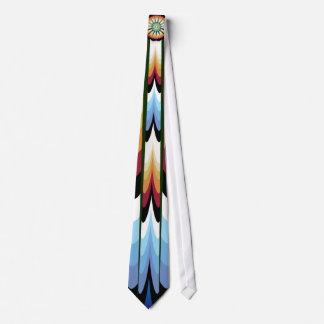 Fuego y agua nativos corbata personalizada