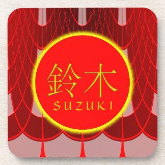 Fuego y hielo del monograma de Suzuki Posavasos
