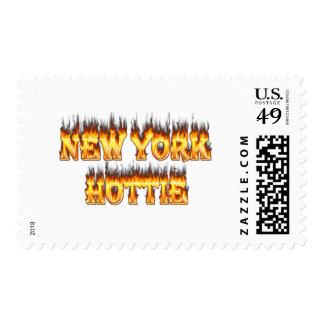 Fuego y llama de Nueva York Hottie Timbres Postales
