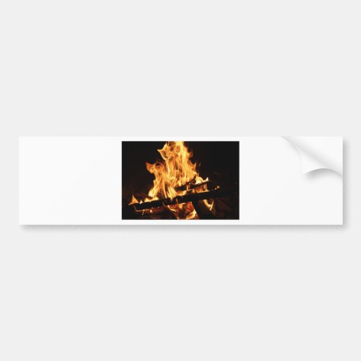Fuego y llamas 2 etiqueta de parachoque