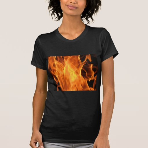 Fuego y llamas camiseta